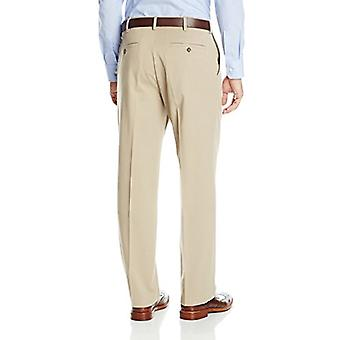 Dockers Men's Comfort Khaki Stretch Relaxed-Fit Flat-Front, Tan, Size 36W x 34L