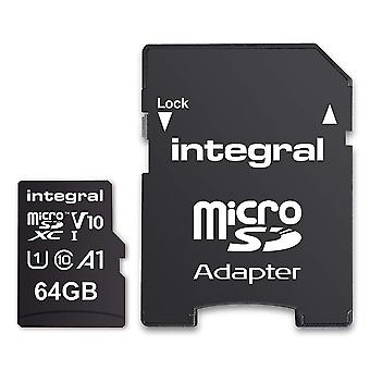 Integral UltimaPro card de memorie 64GB microSDHC/XC Class 10 cu adaptor SD