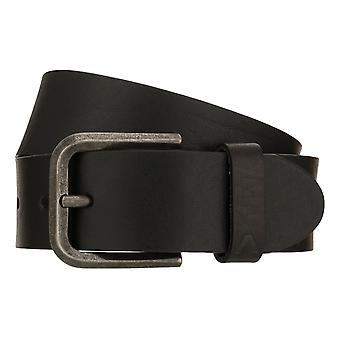 ALBERTO Bull Belt Men's Belt Leather Belt Denim Belt Black 8408