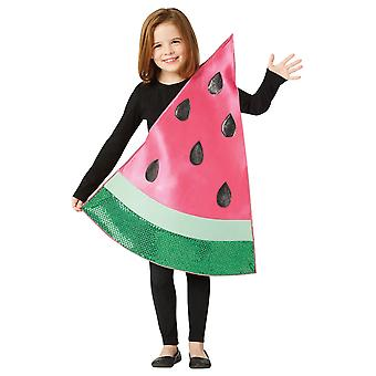 Watermelon Slice Piece Summer Fruit Food Funny Book Week Boys Girls Costume 7-10
