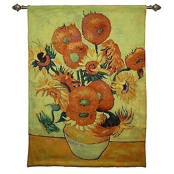 Van gogh - sunflowers wall hanging by signare tapestry / 95cm x 139cm / wh-vg-sf