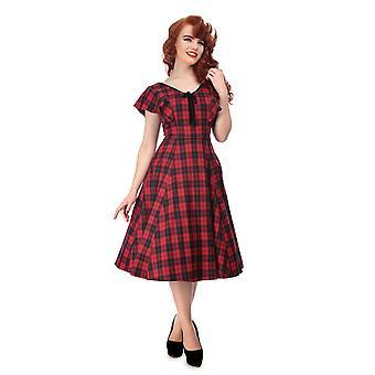 Collectif Vintage Women's Arabella Ettrick Check Swing Dress