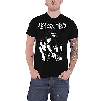 Alien Sex Fiend T Shirt Band Photo Band Logo new Official Mens Black