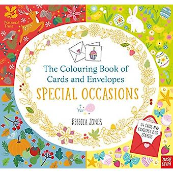 National Trust The Colouring Book of Cards and Envelopes S by Rebecca Jones