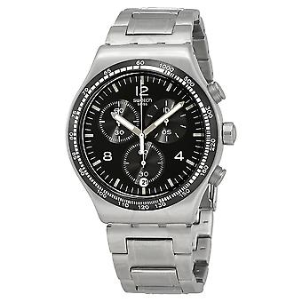 Staal nacht vlucht Stainless Steel Chronograph Mens Watch YVS444G