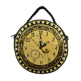 Banned Circular Clock Steampunk Style Shoulder Bag