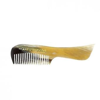 Mustache comb - K natural ratine