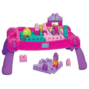 Fisher Price, Build and Learn Table Byggsats - Rosa