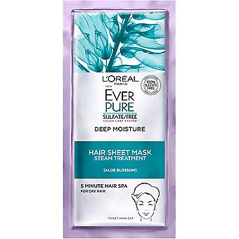 L'Oreal Paris EverPure Deep Moisture Hair Sheet Mask, 1 Count
