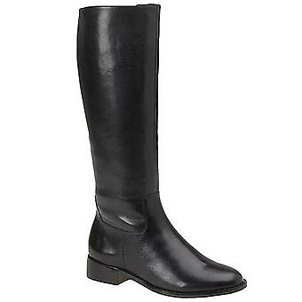 Walking Cradles Womens Elite Leather Round Toe Knee High Fashion Boots