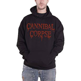 Cannibal Corpse Hoodie Dripping Band Logo Official Mens New Black Pullover