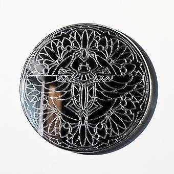 Mandala Scarab Beetle Sirkel Gravert Akryl Speil