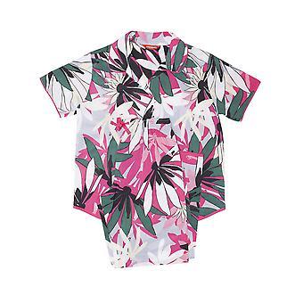 Minijammies 5533 Girl's Layla Pink Floral Print Cotton Woven Pyjama Set