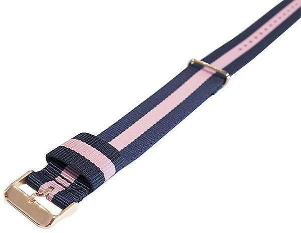 Watch strap made by w&cp to fit daniel wellington winchester style watch strap n.a.t.o gold plated buckle 18mm and 20mm