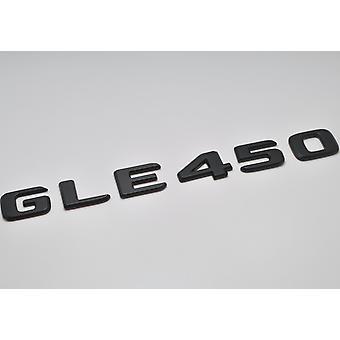 Matt Black GLE450 Flat Mercedes Benz Car Model Rear Boot Number Letter Sticker Decal Badge Emblem For GLE Class W166 C292 AMG