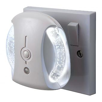 Firstlight Electron Opal Glass White Bathroom LED Wall Light