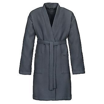 Vossen 141746-740 Unisex Rom Flanell Grey Cotton Dressing Gown Robe