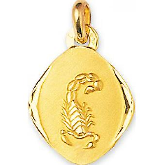 M daille Astrologiska Sign Scorpion Guld 375/1000 gul (9K)