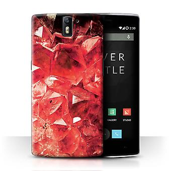 STUFF4 Case/Cover for OnePlus One/January/Red Garnet/Birth/Gemstone