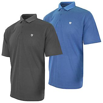 Island Green Mens 2020 Honeycomb Wicking Breathable Golf Polo Shirt