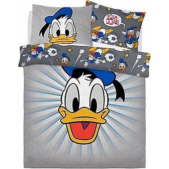 Donald Duck Graphic Panel Reversible Duvet Set