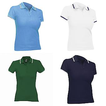 SOLS Womens/Ladies Practice Tipped Pique Short Sleeve Polo Shirt