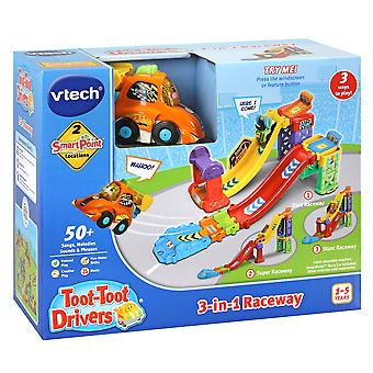 Vtech Toot-Toot Drivers 3-in-1 Raceway Playset With Vtech SmartPoint Race Car