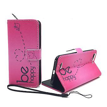 Telefono cellulare custodia per cellulare ZTE blade V6 essere felice rosa