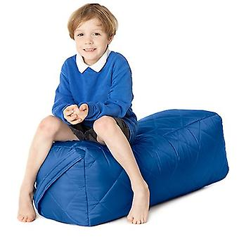 Lange blaue gesteppte Indoor/Outdoor wasserdichte Bean Bag Gartenmöbel