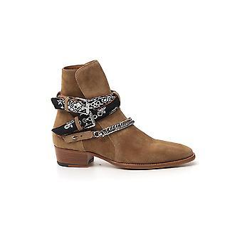 Amiri Y0f20347sufango Men's Brown Suede Ankle Boots