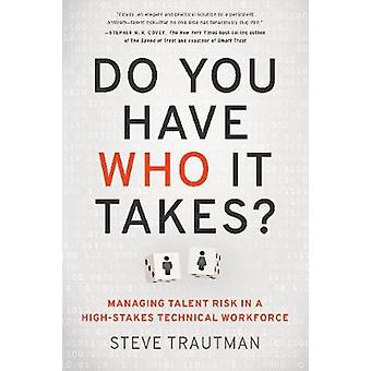 Do You Have Who it Takes? - Managing Talent Risk in a High-Stakes Tech