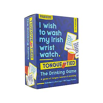 Tongue Tied Drinking Game | Twistingly Difficult Ridiculous Riddles | 4x Shot Cups and 100x Tongue Twisters