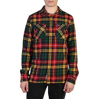 Superdry Original Herren Herbst/Winter Shirt - grüne Farbe 57272