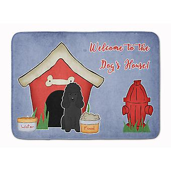 Dog House Collection Poodle Black Machine Washable Memory Foam Mat