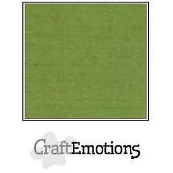 CraftEmotions linen cardboard 10 Sh moss LHC-45 A4 250gr