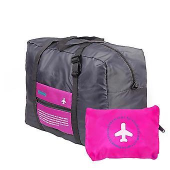 Sammenleggbar Duffel bag med oppbevaringspose - rosa