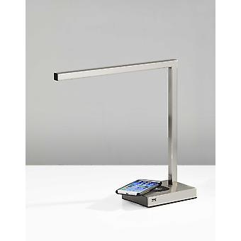 5& X 16.5& X 16& Harjattu teräs metalli LED Desk