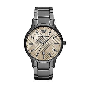 Emporio Armani men's Quartz analogue watch with stainless steel strap AR11120