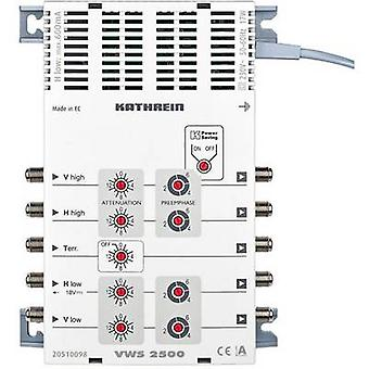 Kathrein VWS 2500 SAT multiswitch Inputs (multiswitches): 5 (4 SAT/1 terrestrial)