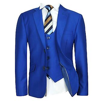 SIRRI Saks Blue Slim Fit Boys Suit