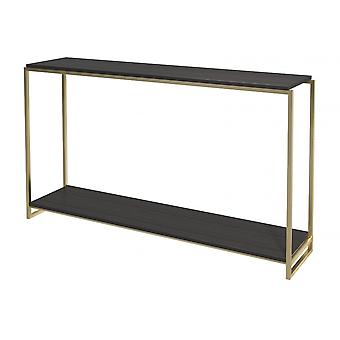 Gillmore Luxe - Narrow Console Table In Various Oak Stains And Frame Finishes