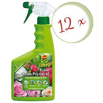Sparset: 12 x COMPO Duaxo® Roses Mushroom-Free AF, 750 ml