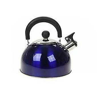 Summit 2.0L Whistling Kettle with Colour Coating Kitchenware Camping - 1 Unit Blue Kettle