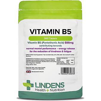 Lindens B5-vitamiini 500mg tabletit 360 (4678)