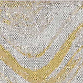 3' x 5' Ivory or Gold Polypropylene Area Rug