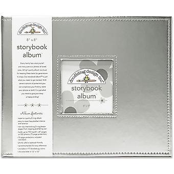 تصميم خربش 8x8 بوصة الفضية ألبوم Storybook
