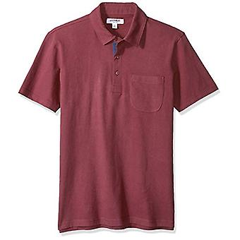 Goodthreads Men's Short-Sleeve Sueded Jersey Polo, Burgundy, XX-Large