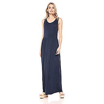 28 Palms Women's Sleeveless Maxi Dress, Navy, XX-Large