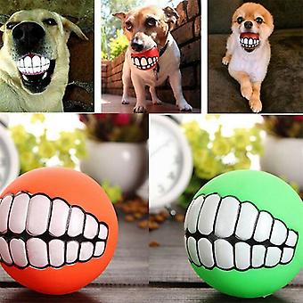 Funny Pets Teeth Chew Squeaking Toy Ball For Small Large Dogs Puppy & Cat
