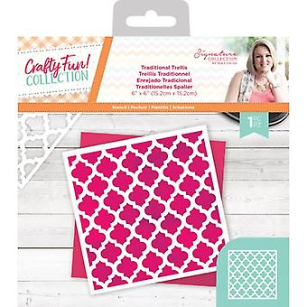 Crafter's Companion Crafty Fun Traditional Trellis Stencil